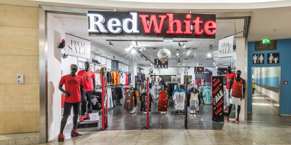 red white fashion neuk lln arcaden berlin. Black Bedroom Furniture Sets. Home Design Ideas